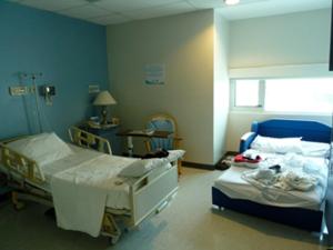 Zimmer in einem Privatkrankenhaus in Managua