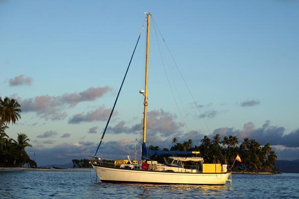 Segelboot wohnen Muoza