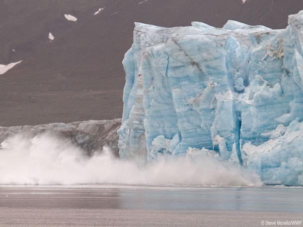 Earth Hour Gletscherschmelze Steve Morello WWF