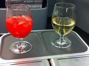 Langstreckenflug Getränke